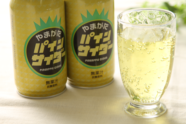 ☆ご当地サイダー☆新やまがたパインサイダー380mlボトル缶24本入