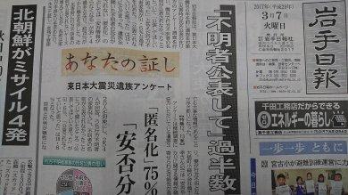 岩手日報(3カ月購読)