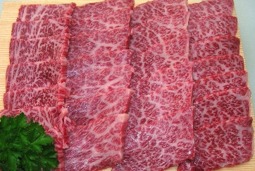 [てらおかの能登牛]特選能登牛霜降りカルビ焼肉用(600g)