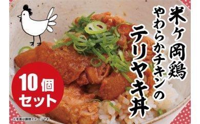 【受付終了】こだわり配合飼料育成!もっちり食感♪米ヶ岡鶏照り焼きセット(10P)