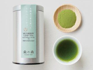 有機桑の葉を使ったマルベリーティー(桑茶)粉末タイプ【茶缶】