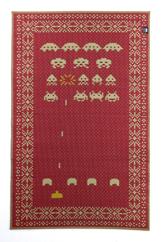 マットSPACEINVADERS95×150レッド