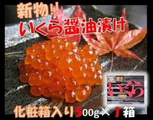 【期間・数量限定】新物!いくら醤油漬500g×1箱
