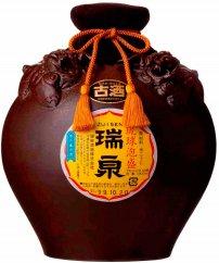 AQ23-C 琉球泡盛瑞泉古酒1升シーサー壷(瑞泉カラカラ・おちょこ付)