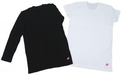amamiainaヨガメンズ半袖Tシャツ(ホワイト)M 長袖Tシャツ(ブラック)M2点セット