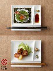 グッドデザイン賞受賞!【miyama.】お箸が置ける白磁の仕切り取皿(4枚組)