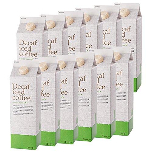 デカフェ アイスコーヒーハウスブレンド[無糖]1,000ml×12本リキッドデカフェアイスコーヒー