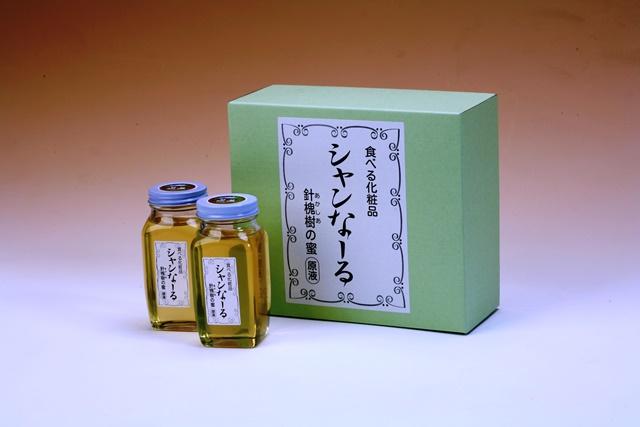 T007【着日指定可】白神山地の純粋なアカシアのハチミツ「シャンなーる」(箱入り2本640g)【17000pt】
