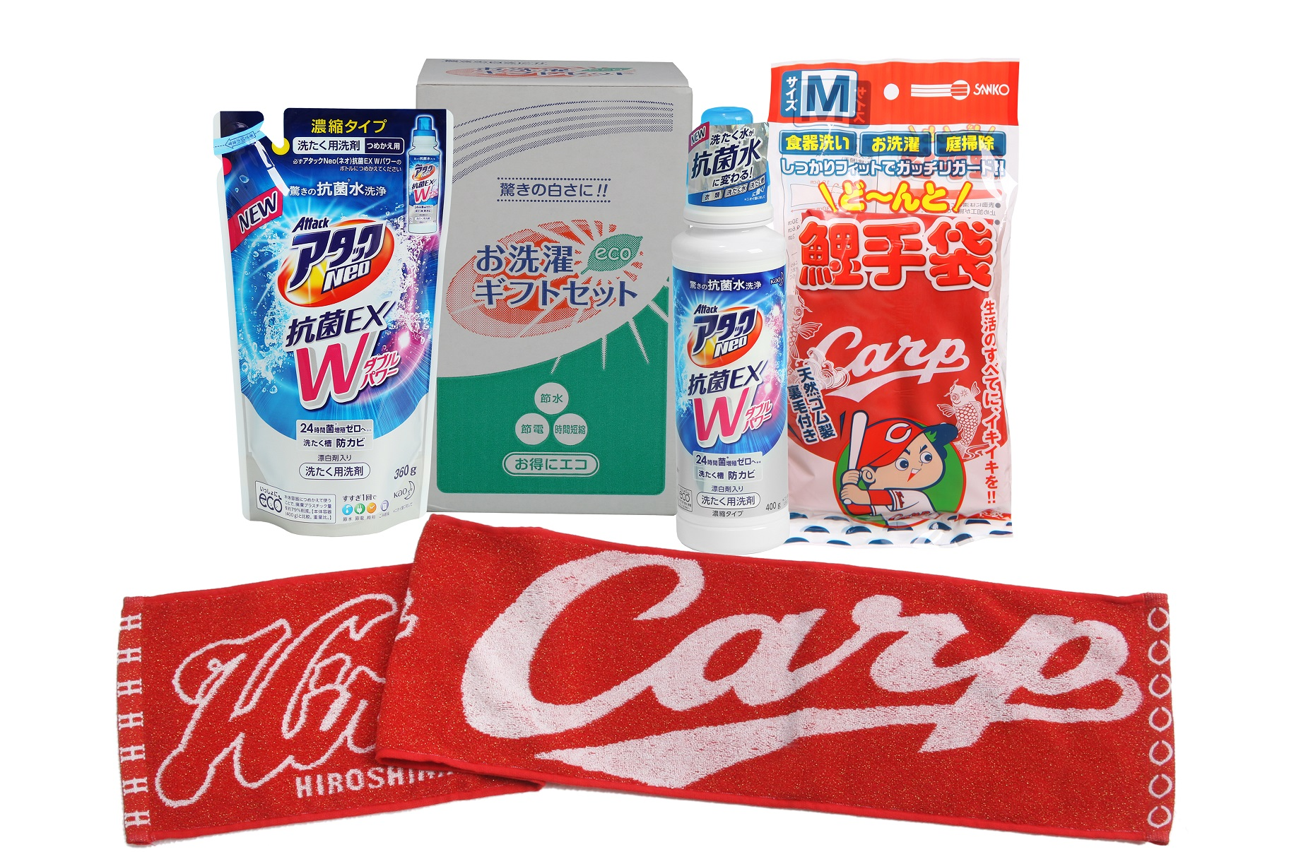 AW13洗剤セット&カープ鯉手袋&カープキラキララメラメマフラータオル HNEO-40