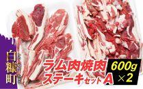 ラム肉焼肉ステ-キセットA【600g×2パック】