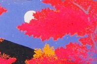 〈芸艸堂〉加藤晃秀木版画「南禅寺紅葉」(額付)
