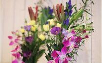 お供え花、墓花セット「安らかな祈りのお花」お盆、お彼岸、命日、法事など故人への想いをお花でお届けいたします。<LotusGarden>