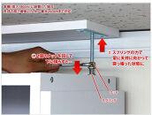 シェルフ7518+突っ張り耐震上置きセットブラウンaku100447001