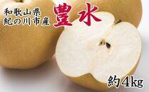 ※受付終了※【産直】和歌山紀の川産の梨(豊水)約4kg【2021年度発送】