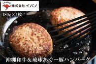 沖縄和牛&琉球あぐー豚ハンバーグ(180g×4枚)