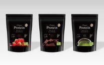 PremiumProtein/プレミアムプロテイン      1kg×3種のフレーバーセット①FreshStrawberry②RichChocolate③DarkMatcha