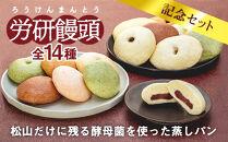 労研饅頭(ろうけんまんとう)全14種類記念セット