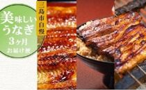 ◆2021年9月発送スタート☆【三名名物】美味しいうなぎお届け便3か月