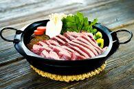◆【麺麓】鴨鍋4人前・鴨肉ブロックロース肉・もも肉セット