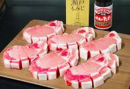 廿日市市の岡村養豚場産「瀬戸もみじ」のトンテキ焼セット