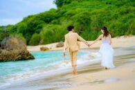 【50カット】沖縄本島のビーチで撮影するフォトウェディングプラン(ドローン撮影つき)