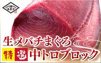 生メバチまぐろ特選中トロブロック(約500g)