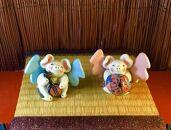 【ギフト用】☆沖縄伝説☆飛豚(とんとん)三味線&花笠ペア