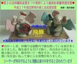 ☆沖縄伝説☆飛豚(とんとん)三味線&花笠ペア