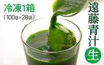 遠藤青汁【生】冷凍1箱(100g×28袋)/健康/美容/乳酸菌/ケール