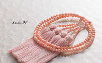 ピンク珊瑚本連数珠