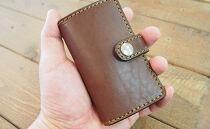 レール式コインケース【ダークブラウン】各コインをキッチリ収納できる小さなお財布!