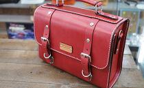 クラシックバッグ【レッド】昔懐かしい学生鞄をイメージした逸品!
