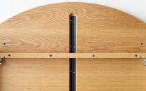 高野木工プレーンラウンドダイニングテーブル[単品]120cmホワイトオーク