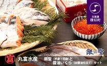 【丸富水産】銀聖(半身・切身)と醤油いくら(白醤油仕立て)セット