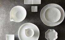 グッドデザイン賞受賞!【miyama.】お箸が置ける白磁の仕切り小皿(4枚組)