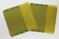 ウージ染め手織りコースター2枚セット