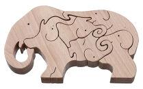 木製アニマルパズル(ゾウ)