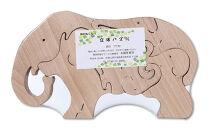 木製アニマルパズル4個セット(ゾウ・サイ・ペンギン・ワニ)