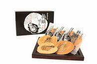 宮島5点セット(もみじまんじゅう×2箱、牡蠣まるごとせんべい×2箱、杓子1個)