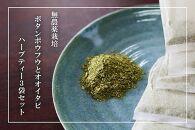 【180杯分!】無農薬ボタンボウフウと大崖石榴茶(長命草とオオイタビハーブティー)3袋セット