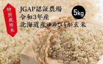 【新米予約開始】特別栽培米JGAP認証農場 令和3年産北海道産ゆめぴりか玄米5kg