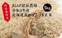 特別栽培米JGAP認証農場 令和3年産北海道産おぼろづき玄米5kg