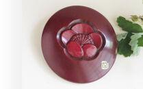 鎌倉彫青山工房の小鏡(梅の花)