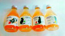 北條農園の無添加りんごジュース味比べ
