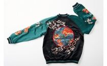 【Lサイズ】金魚スカジャン(刺繍針数約40万針)