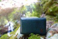 【職人手縫い】和歌山日本鹿革名刺入れ 深森(緑色)