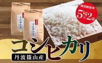 【新米 令和2年産】特Aランク米【特別栽培米】丹波篠山産コシヒカリ5kg2袋