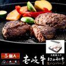 【AB421-NT】壱岐牛生ハンバーグ150g/化粧箱5個セット
