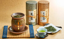 【ギフト用】高級丹波煎茶と丹波焼の茶香炉セット