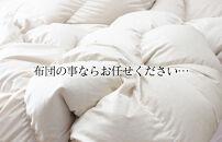 フランス産羽毛グレーダックダウン90%(1.4kg)使用 超長綿生地羽毛掛布団シングル(ブルー系/柄お任せ)